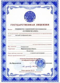 Лицензия местной телефонной связи
